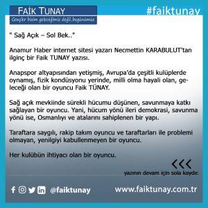 Faik Tunay CHP SPOR
